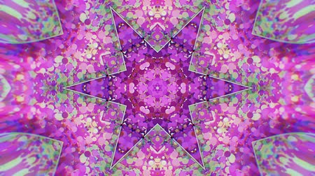 peyote : Colorful Kaleidoscopic Video Background. Colorful kaleidoscopic patterns. Zoom in rainbow color circle design. Or for events and clubs medalion, yoga, india, arabic, mandala, fractal animation