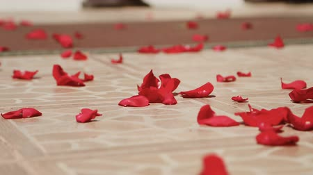 хрупкость : Flower petals on the floor at a wedding ceremony