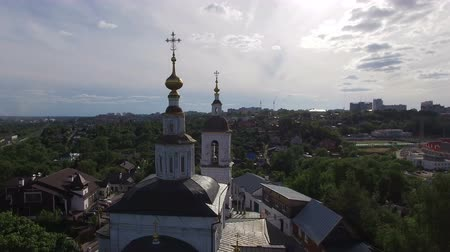 каталонский : Church in the old village Стоковые видеозаписи
