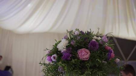 banquete : Arrangement of flowers in a place of wedding