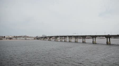 vários : View of the river with a bridge in Kostroma