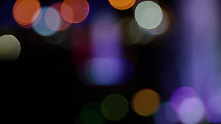 defocus : Color bokeh with light movement of the camera, colors change. Stock Footage