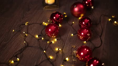 fish ball : 2019. New year 2019. New Years decor, colorful garlands, Christmas socks. Christmas tree on the Christmas tree. Interior decor. A party. Waiting for the holiday. Bokeh, the blue light. New Year