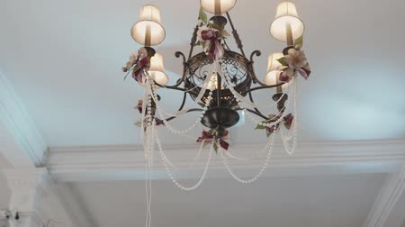 napoleon : Chandelier in the apartment. A beautiful chandelier on the ceiling of the apartment