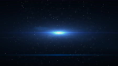 キラリと光る : The warm light on the dark background. anamorphic lens flare. 動画素材