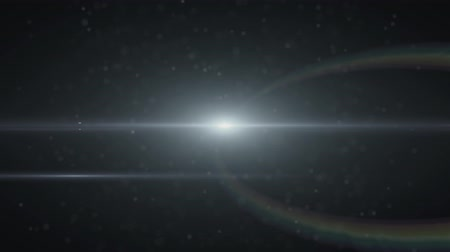 oval : The warm light on the dark background. anamorphic lens flare. Stock Footage