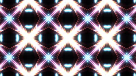 ornamento : Ultra Music Festival Kaleidoscope box background Hypnotic box stage visual loop wall colorful motion background Disco spectrum light concert spot bulb Abstract box multicolored motion graphic box wall Stock Footage