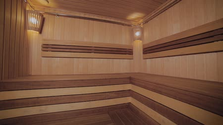 bodywarmer : Interior of the sauna room in the spa.