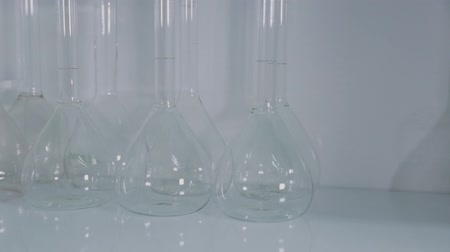 pipet : Glass test tubes in a science laboratory.