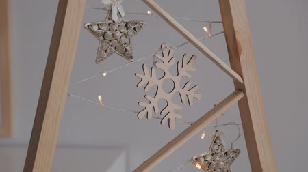 snow angel : Details of New Year decorations. New Year 2020.