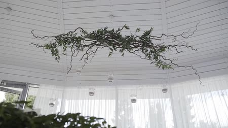 カトラリー : Beautiful wedding decoration in the hall. Wedding decorations. 動画素材