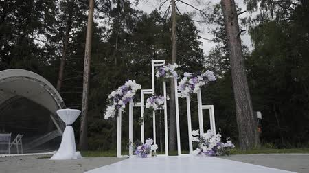 wed : Beautiful decor of exit wedding registration.