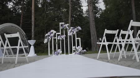 registration : Beautiful decor of exit wedding registration.