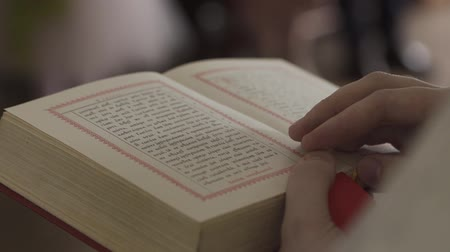 holy book : Orthodox bible in the church. Stock Footage