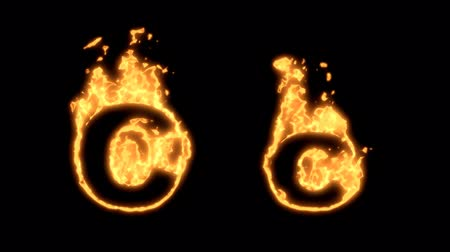 levél : Flaming Alphabet. Upper and lower case C bursting into flames. Part of a series an alphabet, numbers and other characters.