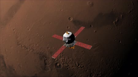 Марс : Unmanned spacecraft Mariner 9 goes into orbit round Mars in November 1971. It was the first spacecraft ever to orbit another planet.