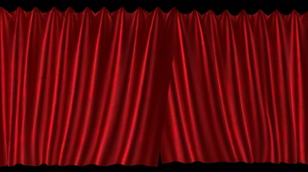 galo : Pair of velvet curtains closing. Includes luma matte. Stock Footage