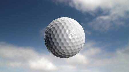 golfe : Golf ball flies at the camera then stops but carries on rotating. Last 200 frames (101-300) loop. Vídeos