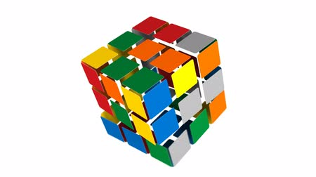sorunlar : A cube puzzle being solved. Cube is hollow.