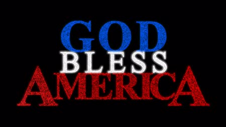 amerika : The phrase God Bless America formed from an American flag.