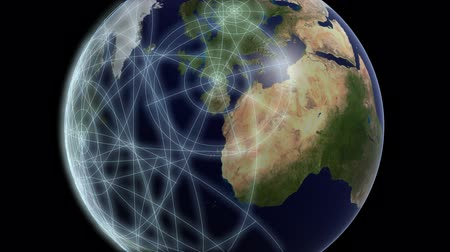 vincular : Visualization of communications traffic between the main cities of the world.