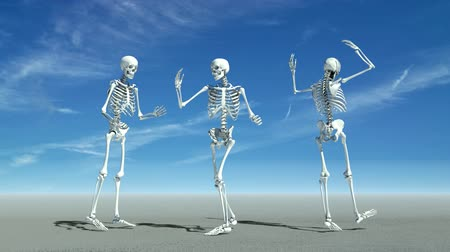 csontváz : Three skeletons dancing.