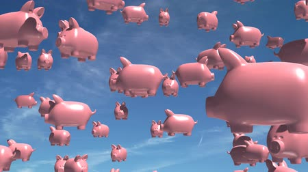 svině : Sky fills up with flying pigs.