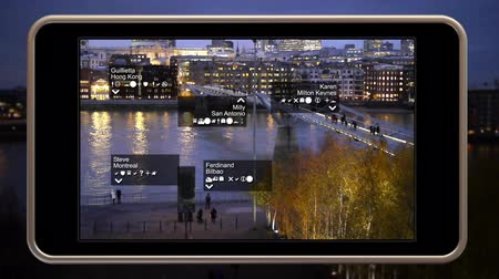 A smart phone video display showing augmented reality.