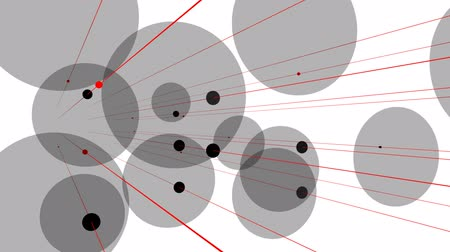 átfedés : Visualization of messages passing along lines and being recieved by overlapping circles.
