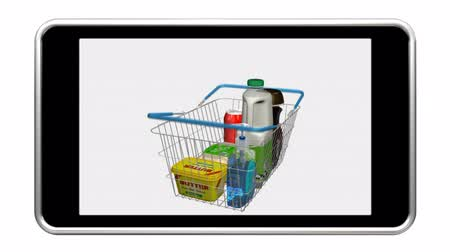 покупка товаров : Shopping online using a smart phone. Last 300 frames loop.