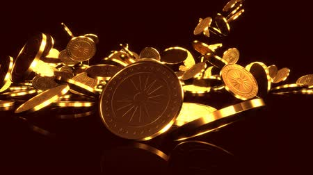 decadência : Cascade of gold coins.