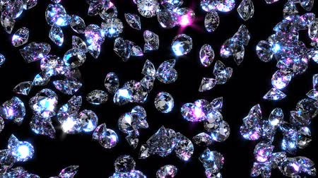 decadência : Sparkling diamonds fall through the air. Vídeos