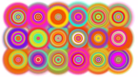 korkak : Hypnotic or mesmerizing dots continually appearing. All different colors.