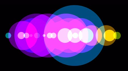 gidermek : Colored spotlight circles which resolve into a graphic background.