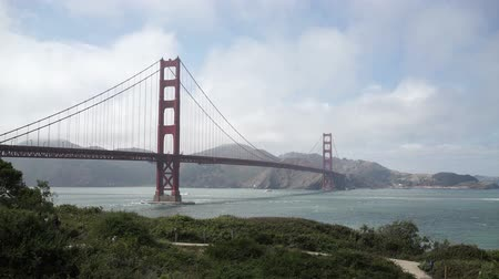 the suspension bridge : Golden Gate Bridge from Golden Gate park.
