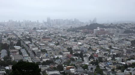Misty San Francisco downtown.