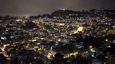 Night time San Francisco hillside. Vídeos