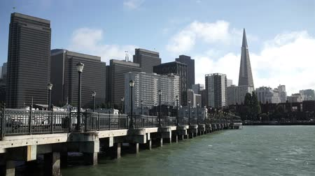 San Francisco downtown towers pier and waterfront.