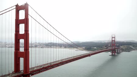 The Golden Gate Bridge San Francisco from the Marin Headlands. Vídeos