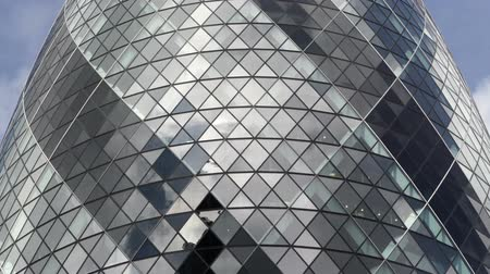 Gherkin office tower window detail.