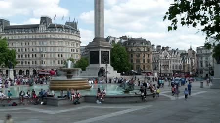 Trafalgar Square time lapse panorama.