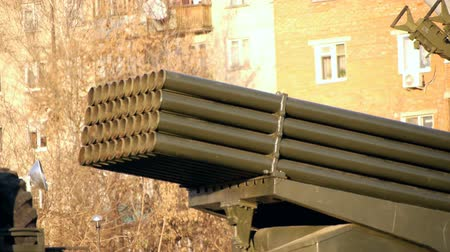 rusya : Grad Multiple-Launch Rocket System at Military Museum