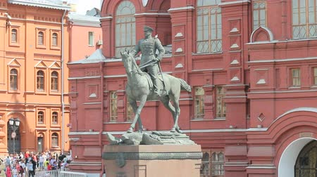 kreml : Marshal Zhukov Monument, near Historical Museum at Red Square