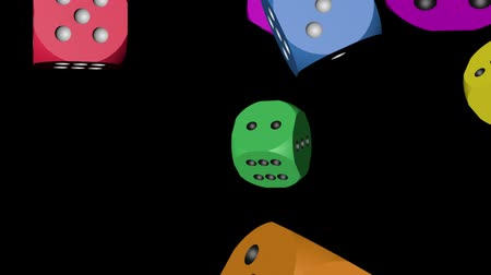 Rainbow Color Dice Falling Stock Footage