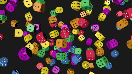 Rainbow Color Dice Collided Stock Footage