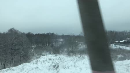 View From Train Window Stock Footage