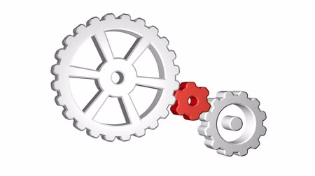 pneu : Icon of gears spinning. Seamless looping. Luma matte included.