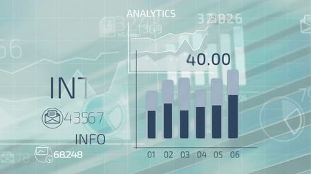 analiz : Abstract infographics animation of financial stock data. Stok Video