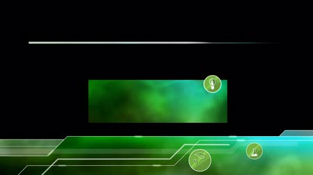 Ecological Lower Thirds. Green