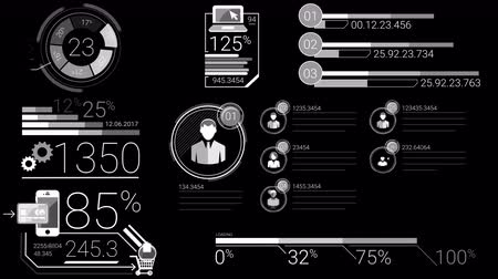 canal : Business Infographics White Elements With Alpha Channel Stock Footage